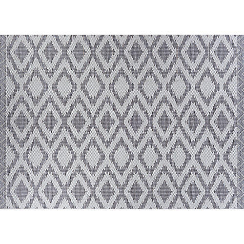 Song Outdoor Rug, Gray/Ivory