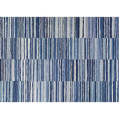 Carlo Talavera Rug, Blue/Ivory