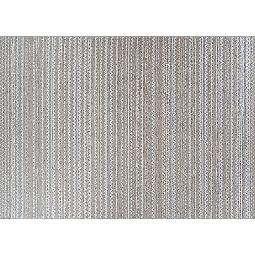 Oluchi Outdoor Rug, Taupe/Ivory