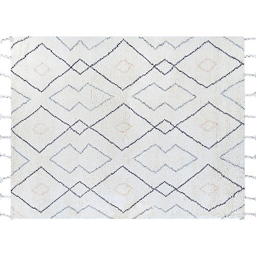 Farro Hand-Knotted Rug, Ivory