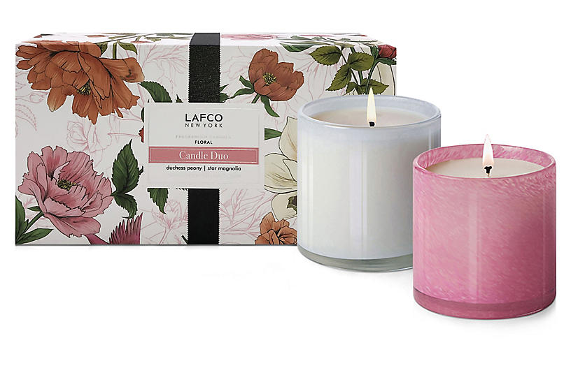 Spring Classic Floral Candle Duo