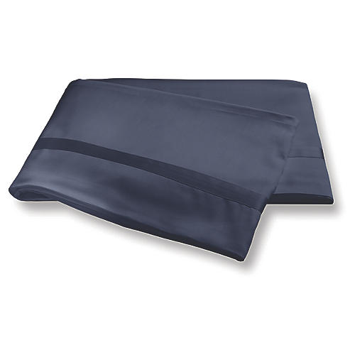 Nocturne Flat Sheet, Navy
