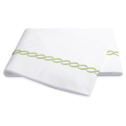 Classic Chain Flat Sheet, Spring Green