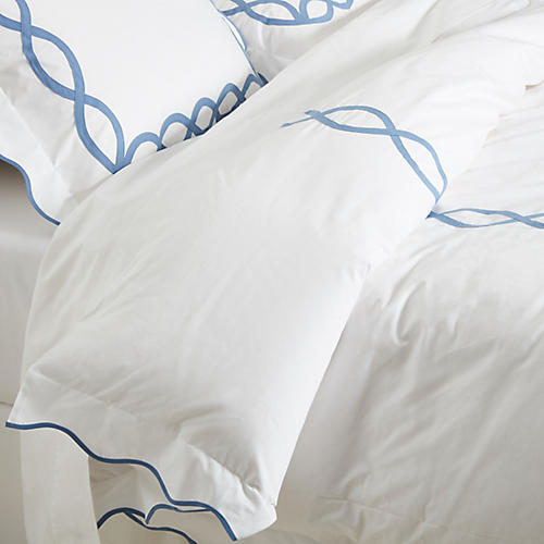 Gianna Duvet Set, Blue