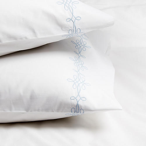 S/2 Bernini Standard Pillowcases, Blue