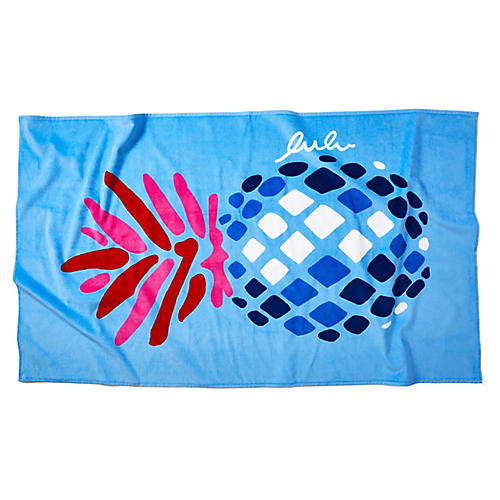 Pineapple Beach Towel, Periwinkle