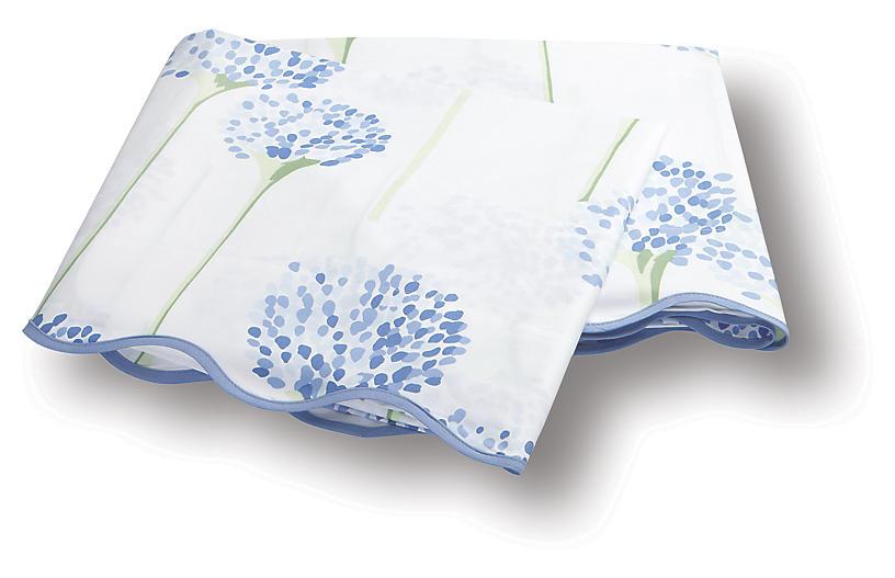 Lulu DK, Charlotte Flat Sheet, Azure
