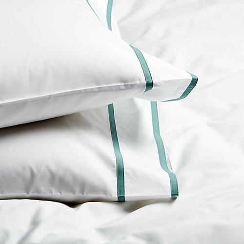 S/2 Collana Standard Pillowcases, Jade