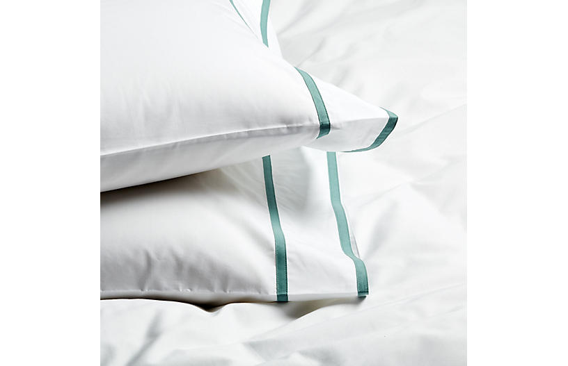 S/2 Collana Standard Pillowcases, Jade