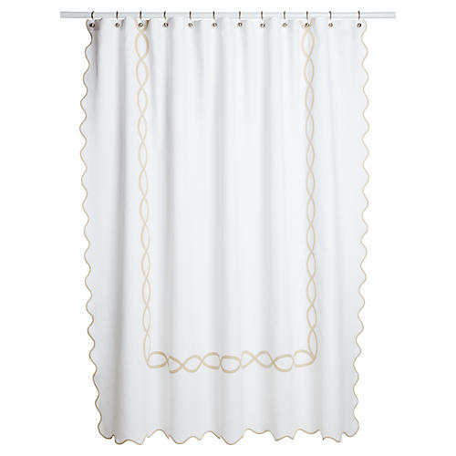 Gianna Shower Curtain, Champagne