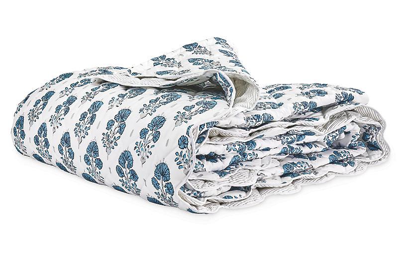 Lulu DK, Joplin Quilt, Blue