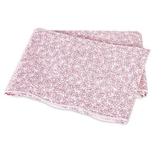 Margot Flat Sheet, Blush