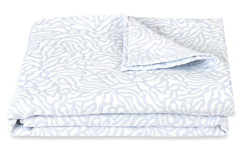 Cora Coverlet, Mineral/White