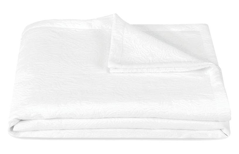 Cora Coverlet, White