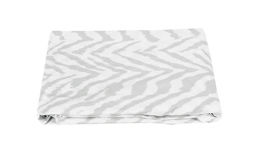 Quincy Fitted Sheet, Silver