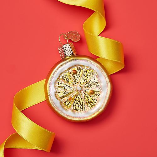 Lemon Ornament, Yellow