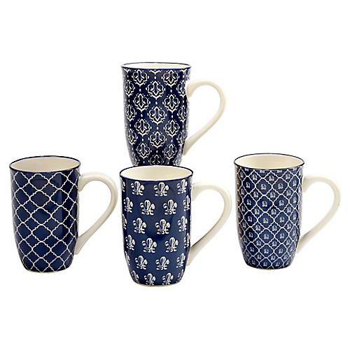 S/4 Mara Mugs, Blue