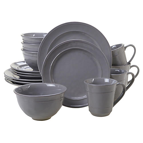 Asst. of 16 Misha Place Setting, Gray