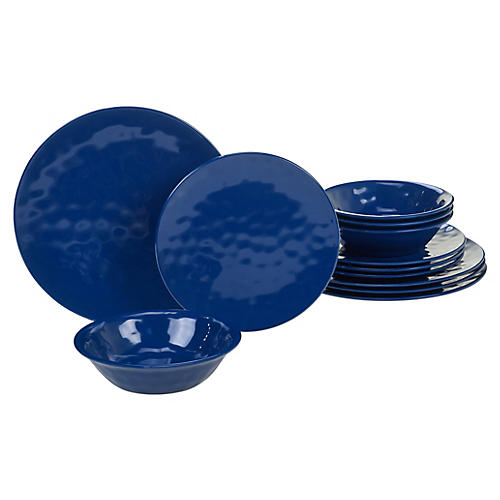 Asst. of 12 Wayne Melamine Place Setting, Cobalt