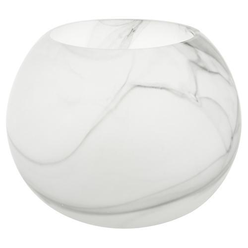 """10"""" Penn Vase, White/Black"""