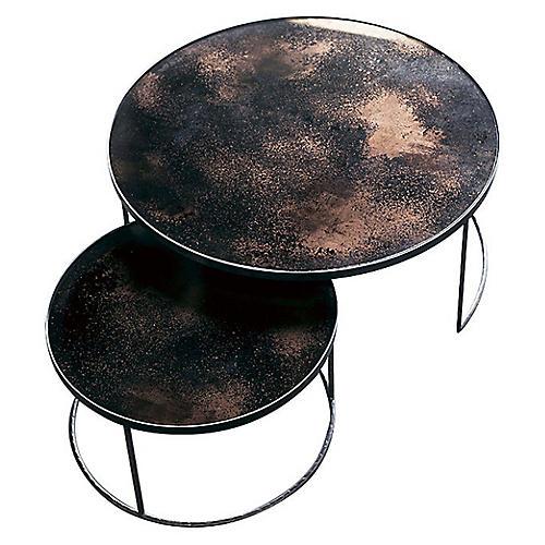 Nesting Coffee Tables, Bronze
