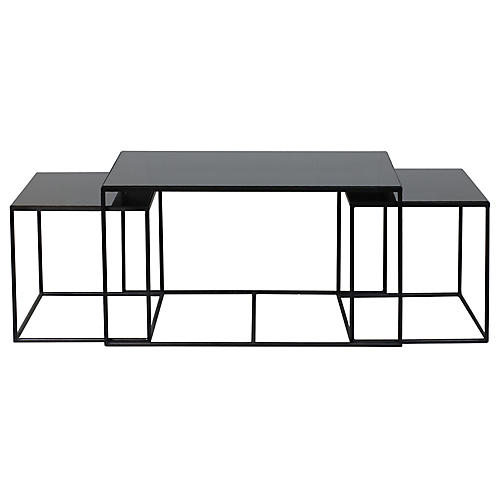Asst. of 3 Notre Monde Nesting Tables, Black