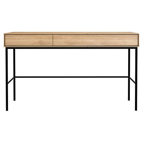 Whitebird Desk, Oak/Black