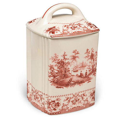 Brooks Canister, Red/Ivory