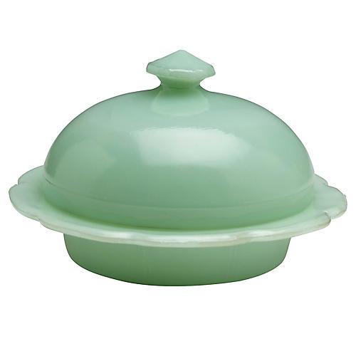 Hanlon Butter Dish, Jade