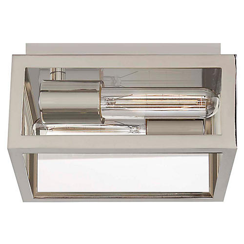Fresno Wide Semi-Flush Mount, Chrome