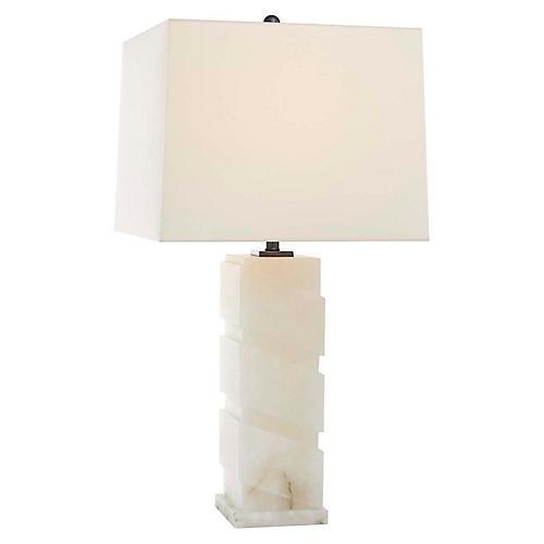Bias Alabaster Table Lamp, Natural