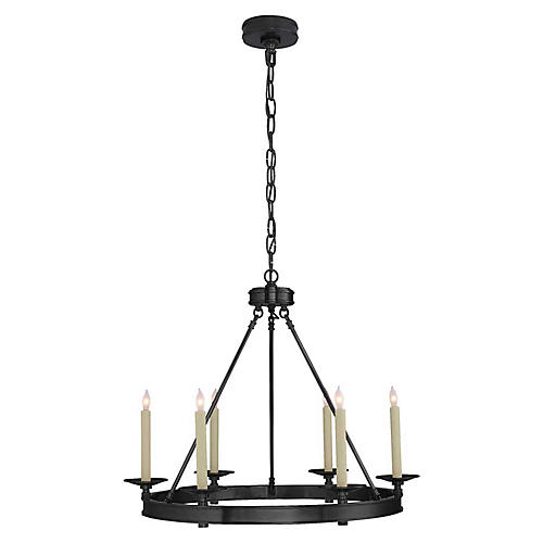 Launceton Small Ring Chandelier, Bronze
