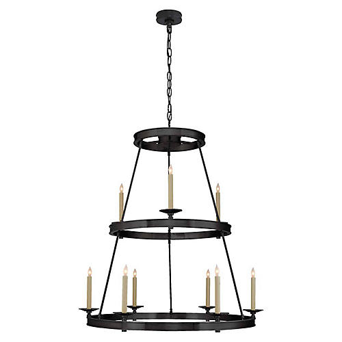 Launceton Two-Tier Chandelier, Bronze