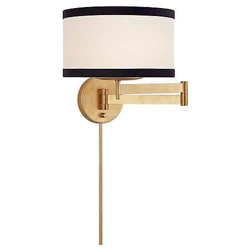 Walker Swing-Arm Sconce, Gold