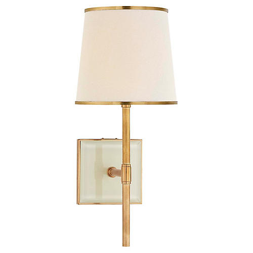Bradford Sconce, Soft Brass/Cream