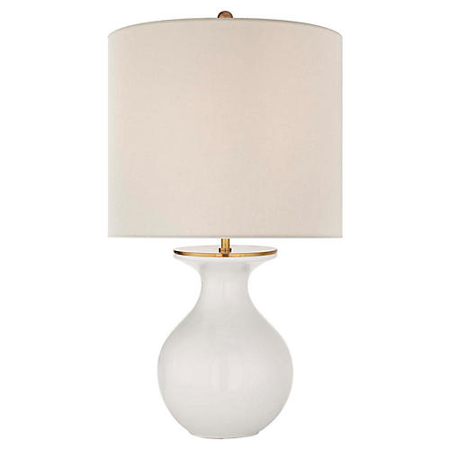 Albie Table Lamp, New White