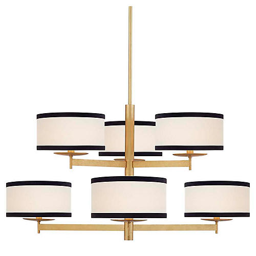 Walker 2-Tier Chandelier, Gold
