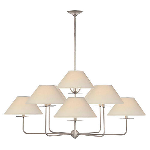 Kelley Chandelier, Silver Leaf