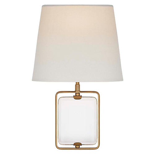 Henri Crystal Sconce, Antiqued Brass