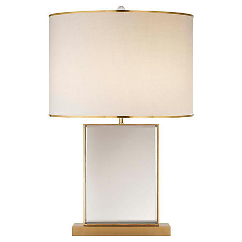 Bradford Table Lamp, Soft Brass/Mirror