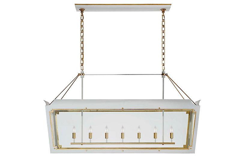 Caddo Linear Lantern, Soft White With Gild