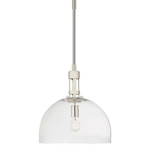Gable Dome Pendant, Polished Nickel