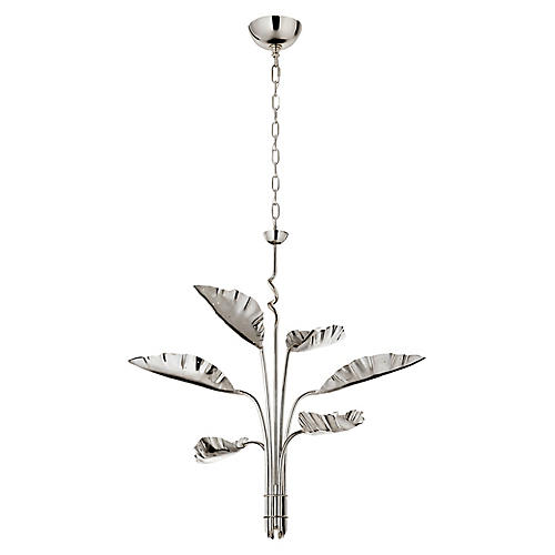 Dumaine Chandelier, Polished Nickel