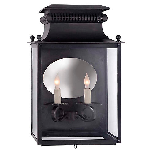 Honore 2-Light Sconce, Blackened Copper
