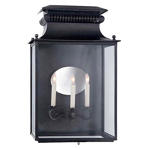 Honore 3-Light Sconce, Blackened Copper