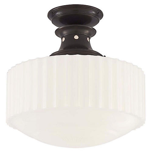 Milton Semi-Flush Mount, Bronze