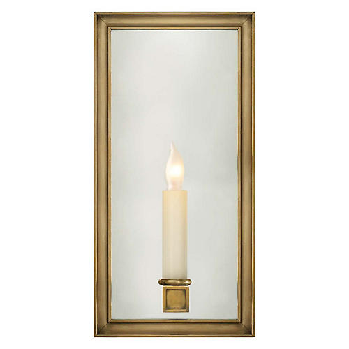 Lund Single Sconce, Burnished Brass