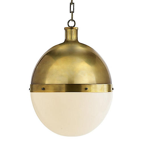 Hicks Pendant, Antiqued Brass