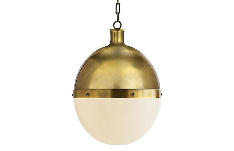 Hicks Pendant, Antiqued Brass