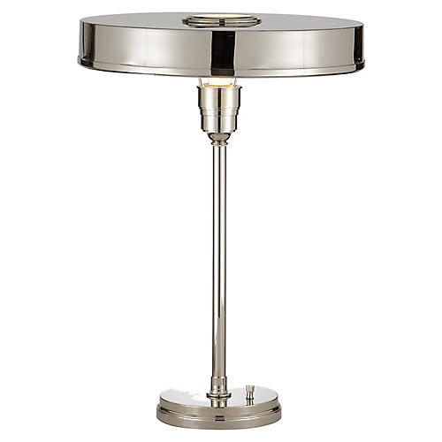 Carlo Table Lamp, Polished Nickel